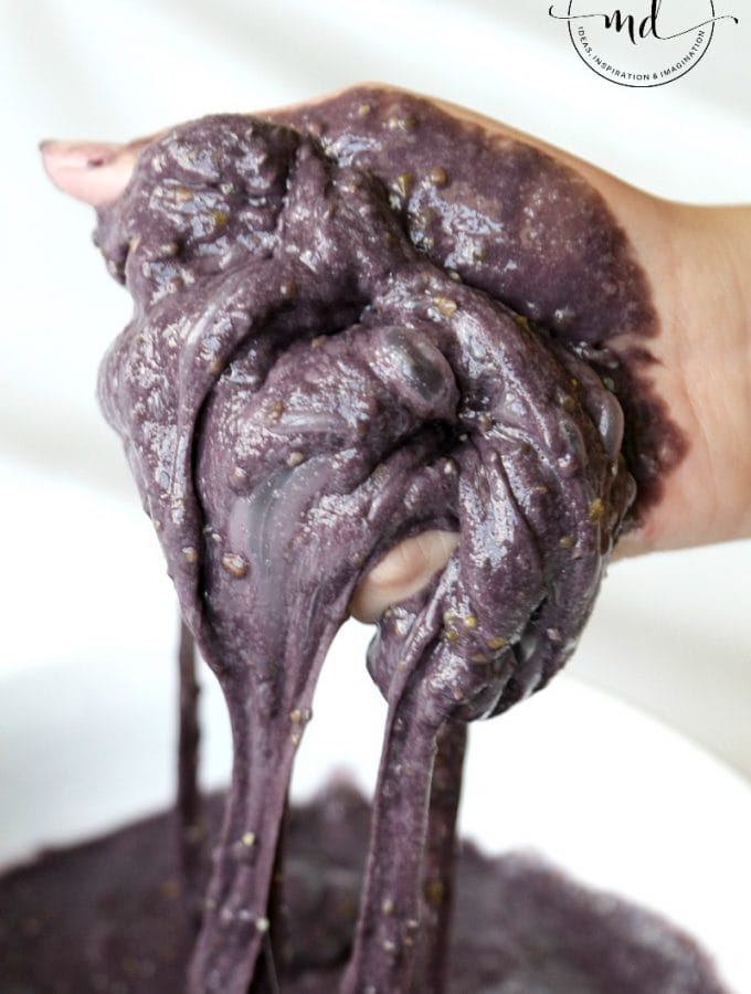 Disgusting Bat Poop Slime, Halloween Slime Recipe to gross out your friends with a secret ingredient