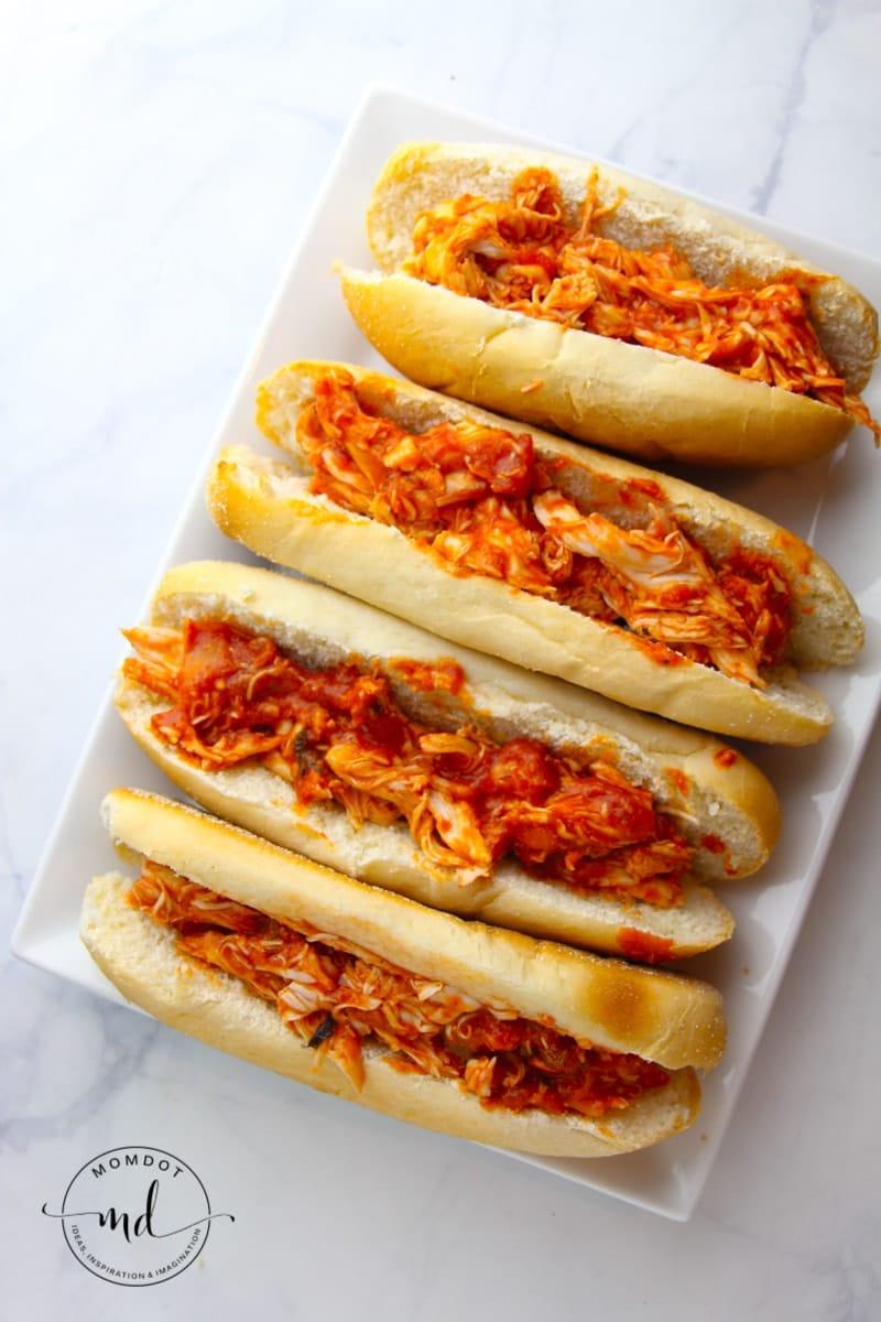 Slow Cooker Chicken Parmesan Recipe |Chicken Parmesan Sandwiches made easy in Crock pot | Italian Dinner Night