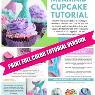 Mermaid Cupcake Tutorial PDF File