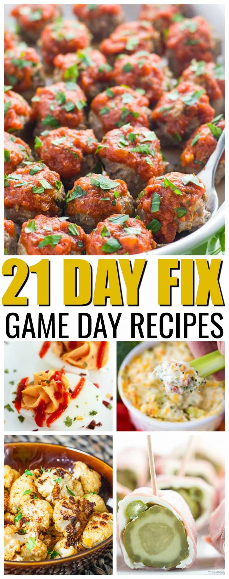 21 Day Fix Game Day Foods