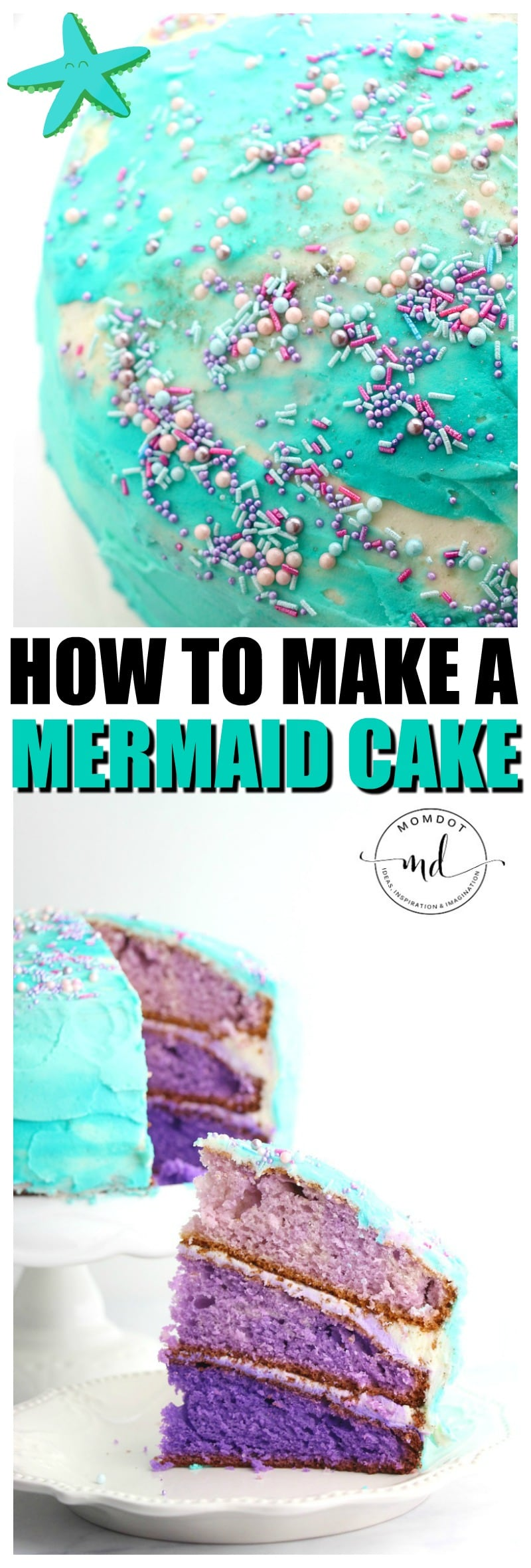 How to make a Mermaid Cake | MERMAID CAKE DIY