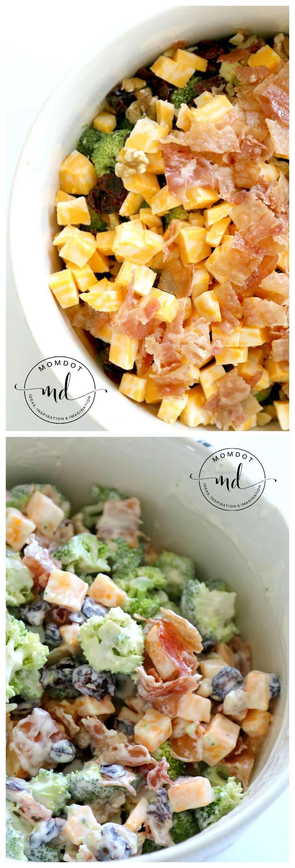 Broccoli Salad Recipe, Easy Bacon Broccoli Salad that Grandma will Approve!