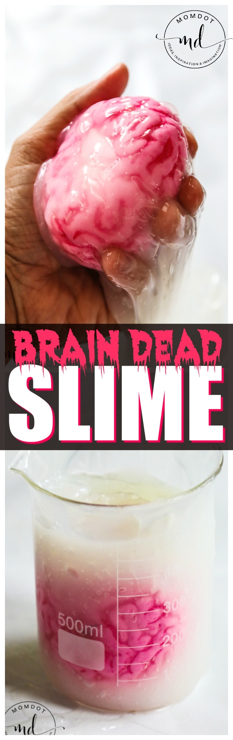Brain Dead Slime : How to make FREAKY Halloween Slime   Halloween Decor