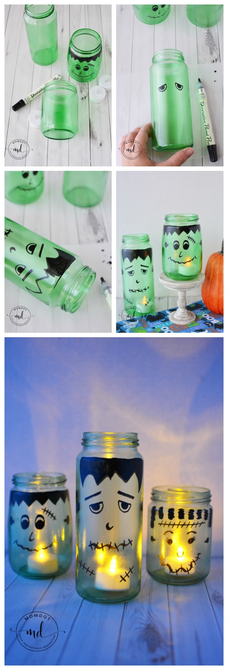 How to make a Halloween Luminary | Mason Jar DIY Halloween