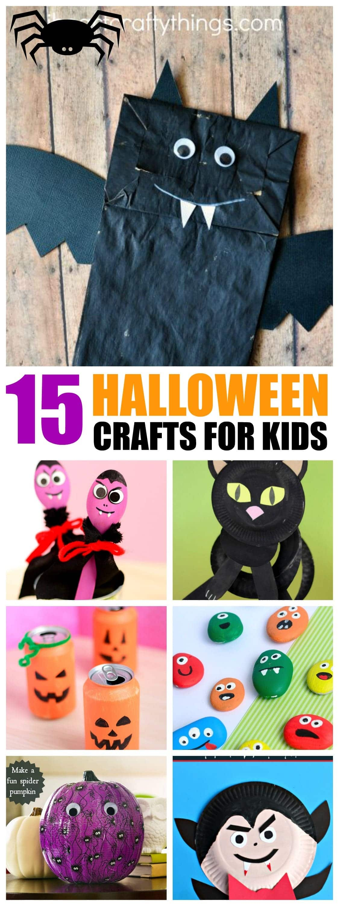 15+ Halloween crafts for kids | Kid friendly Halloween Projects | Paper plates, paper bags and more!