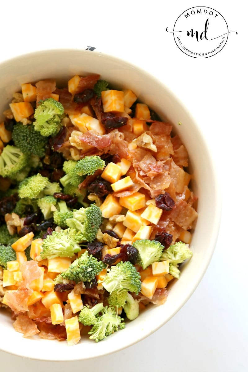 How to make an Easy Bacon Broccoli Salad that Grandma will Approve!