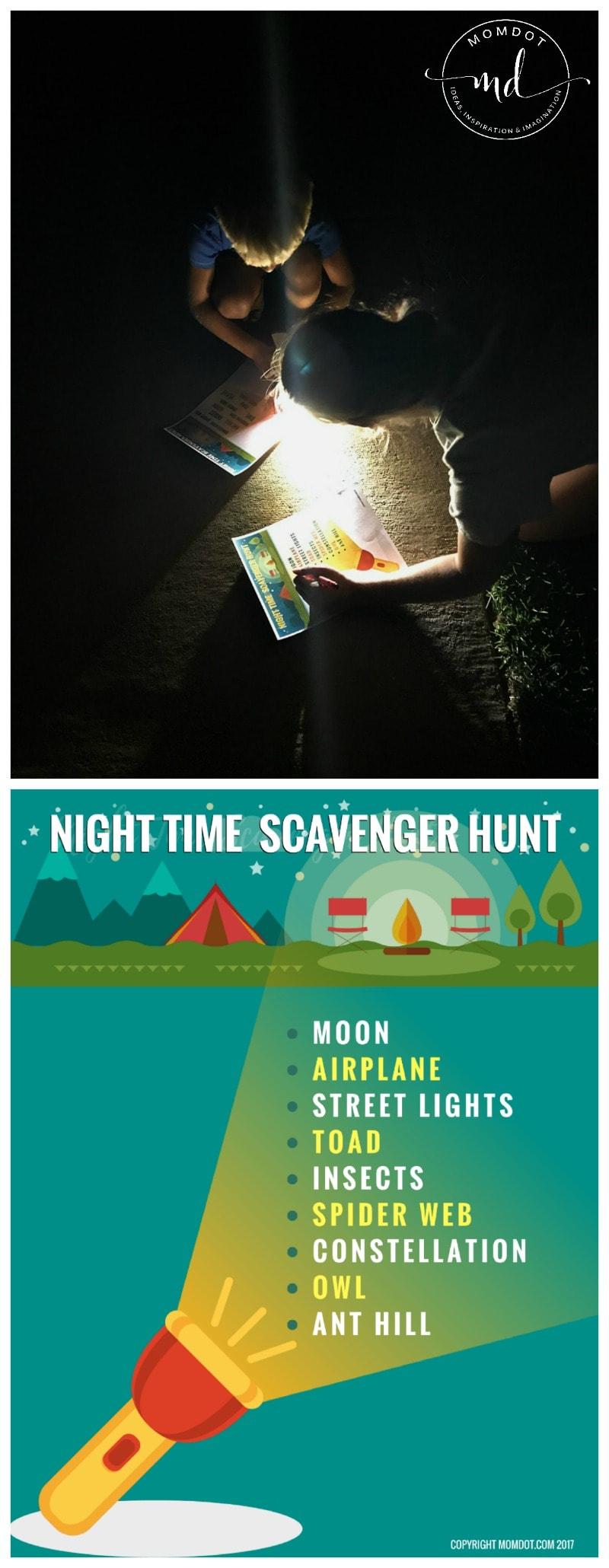 Flashlight Scavenger Hunt | Free Printable | After Dark Scavenger Hunt