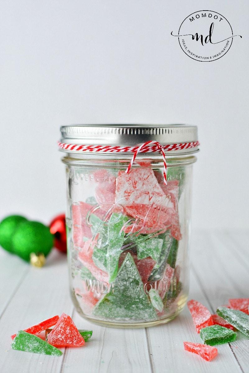 Cinnamon Rock Candy Recipe   Christmas Rock Candy  How to make Rock Candy   Mason Jar Candy
