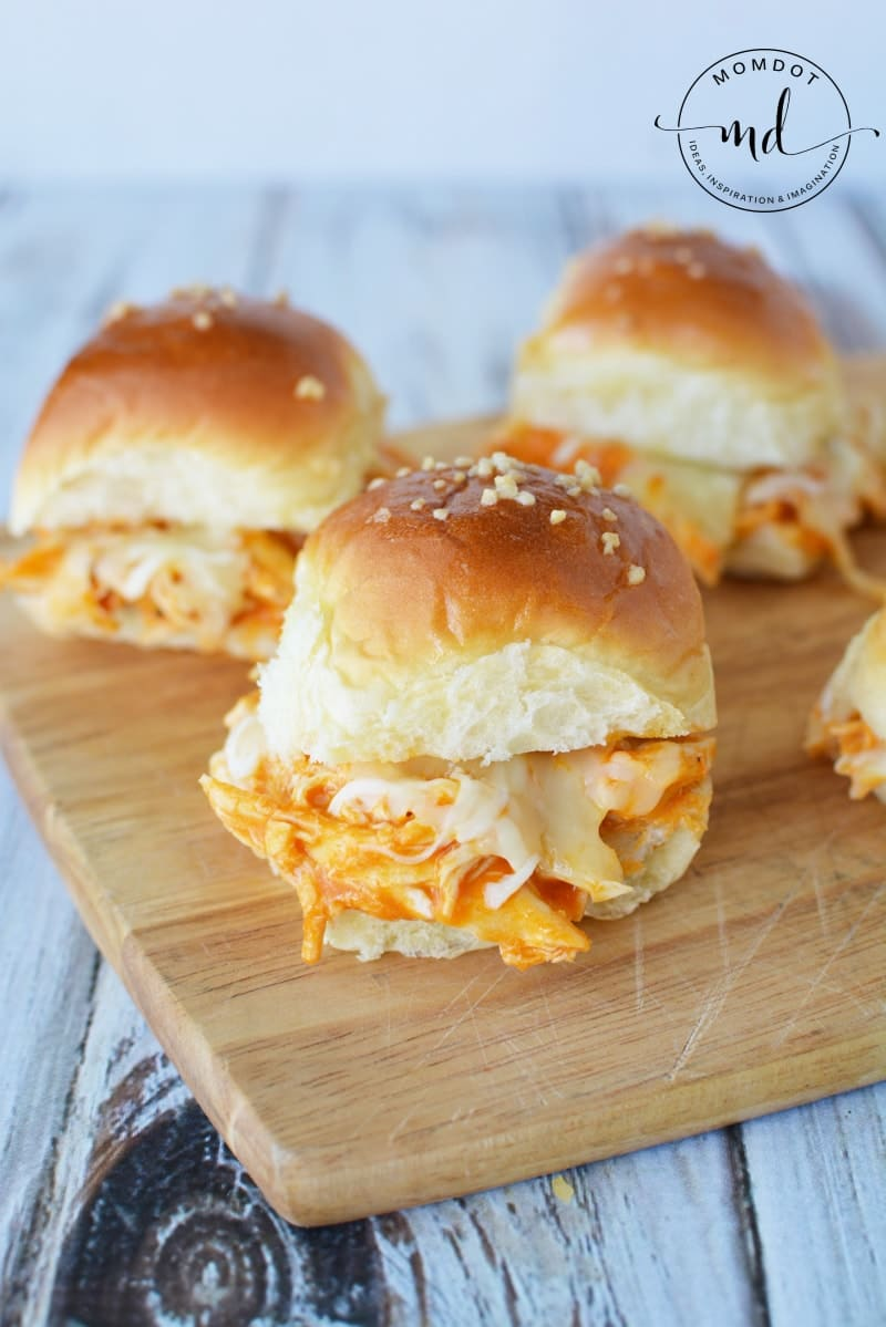 Buffalo Chicken Sliders | Shredded Buffalo Chicken Dinner Recipe | Slow Cooker or Oven