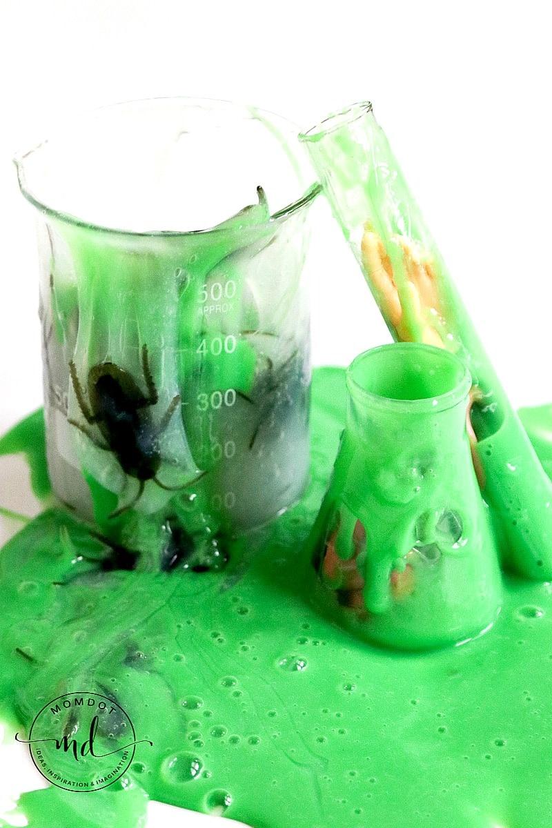 Mad Scientist Halloween Slime Tutorial