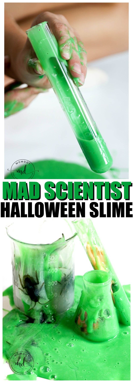 Halloween Slime | Mad Scientist Halloween Slime Tutorial | Halloween Slime #slime #howtomakeslime #diy #fallcrafts