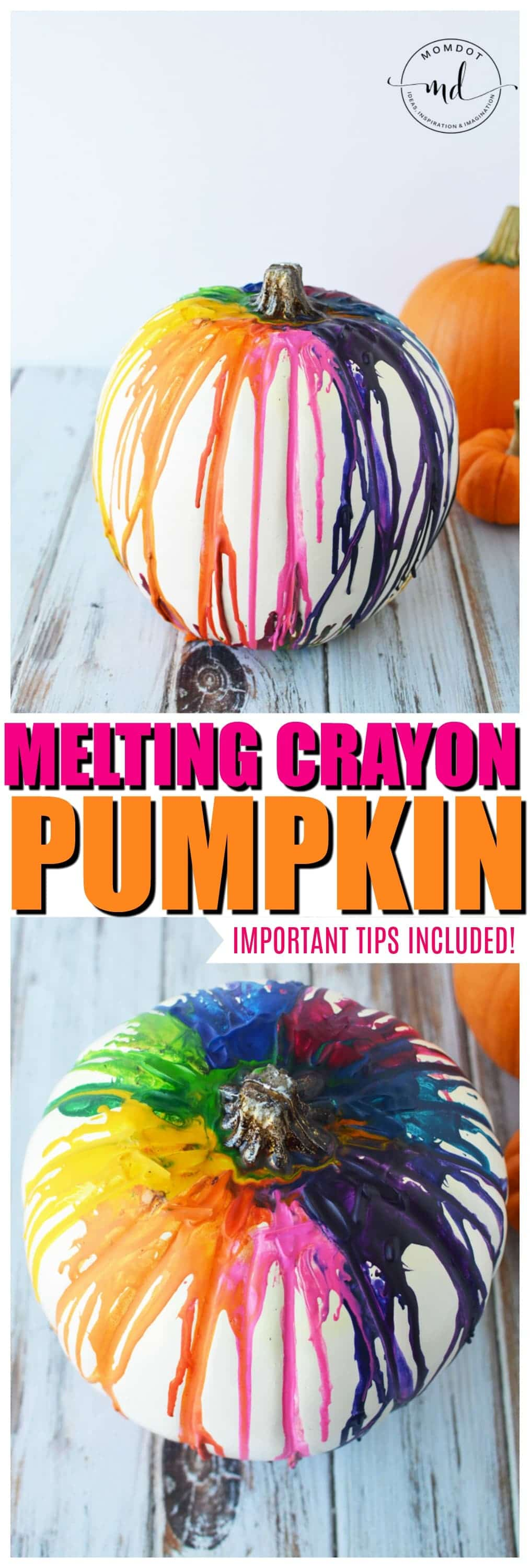 how to Melting Crayons Pumpkin Tutorial #pumpkins #halloween2017 #halloween #crayons #kidscrafts #halloweenpumpkin #DIY #howto #tutorial #tips