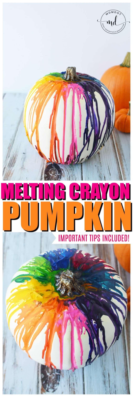 how to Melting Crayons Pumpkin Tutorial #pumpkins #halloween2017 #halloween #crayons #kidscrafts #halloweenpumpkin #DIY #howto #tutorial #tips
