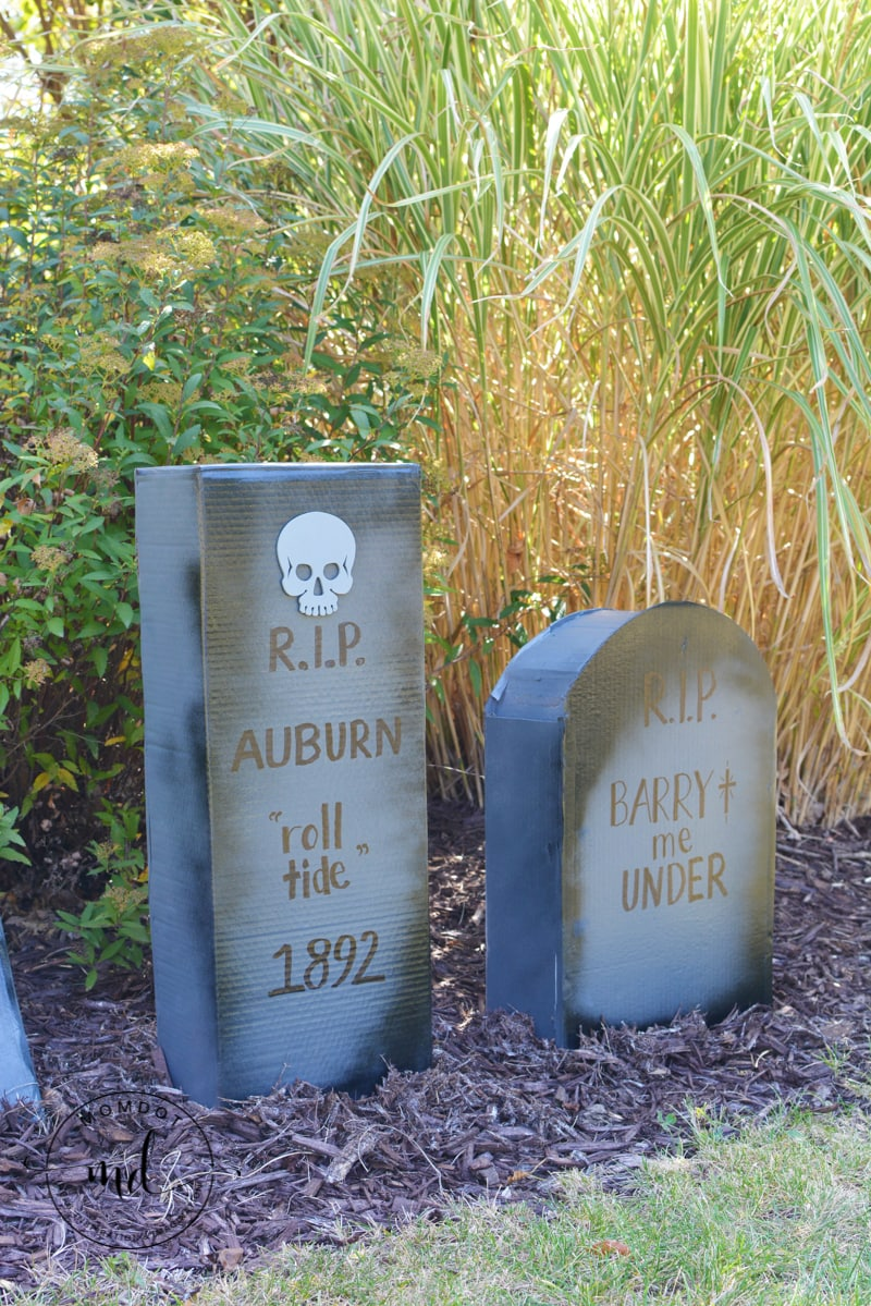 how to make cardboard tombstones -