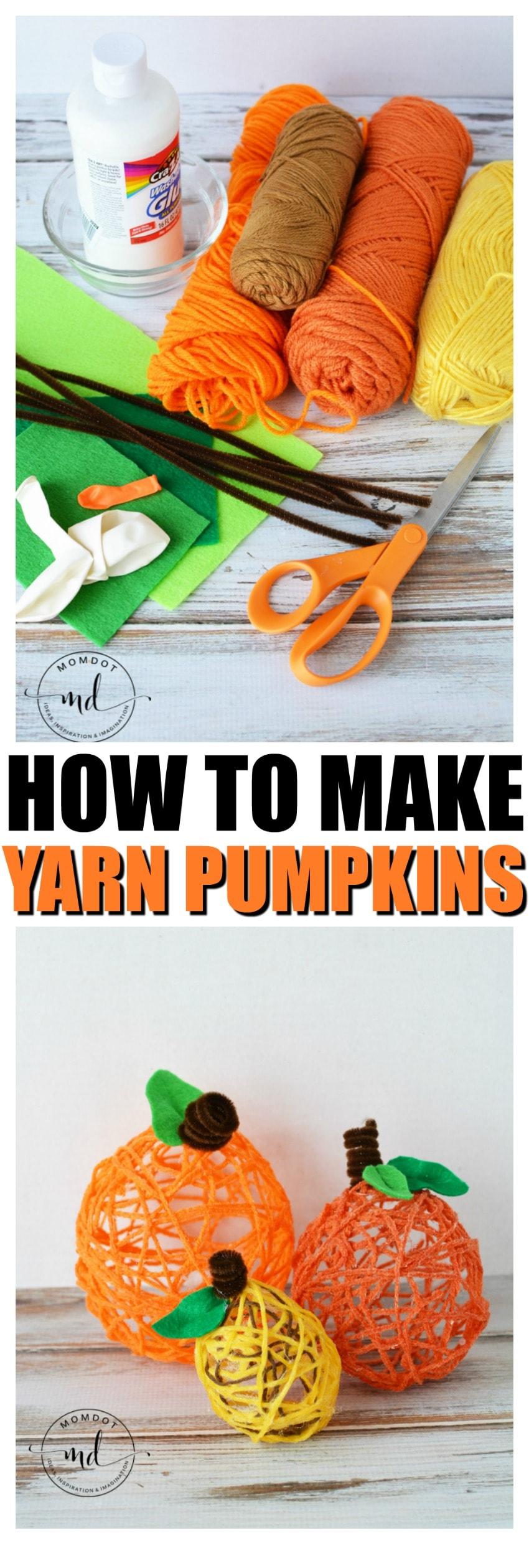 how to make yarn pumpkins Yarn Pumpkins | How to make Yarn Pumpkins | Simple Balloon Pumpkins for Halloween Crafting