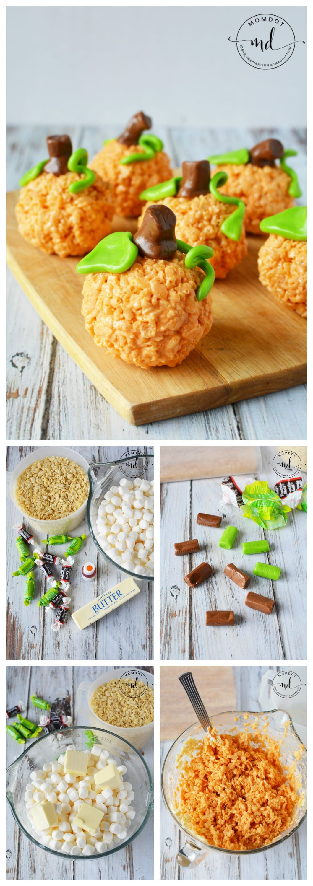 pumpkin rice krispie treats recipe how to make pumpkin rice krispie treats with tootsie roll
