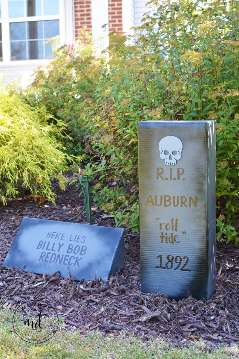 Add your own silly phrases and create a graveyard with a few simple instructions. Learn how to Make Cardboard Tombstones in this awesome tutorial today!