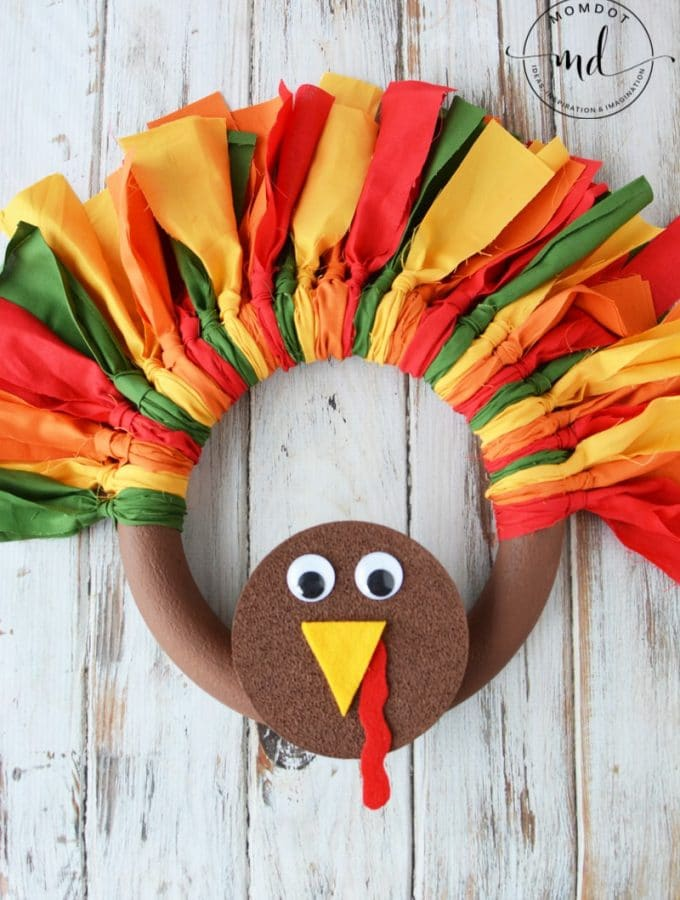 How to make a Turkey Wreath