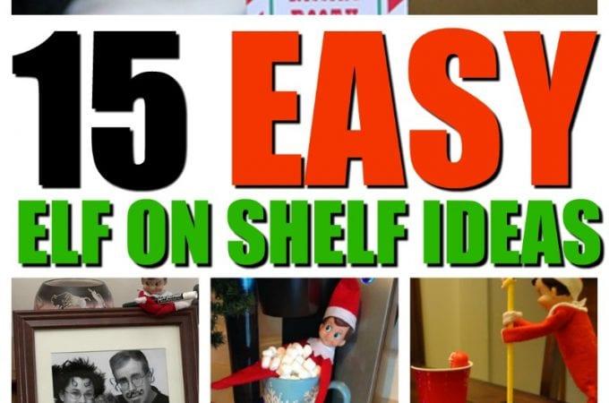 15 easy elf on shelf ideas | Elf on the Shelf | Printables
