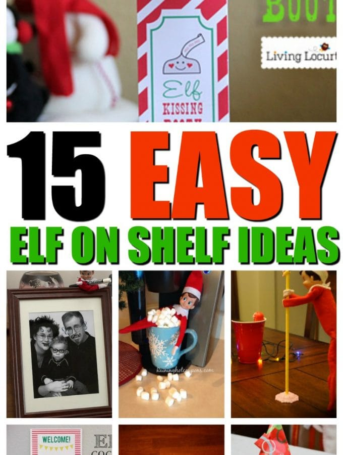 15 easy elf on shelf ideas | Elf on the Shelf | Printables
