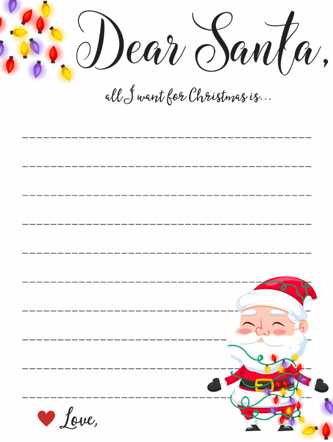 Dear Santa Letter: Free Printable Downloads