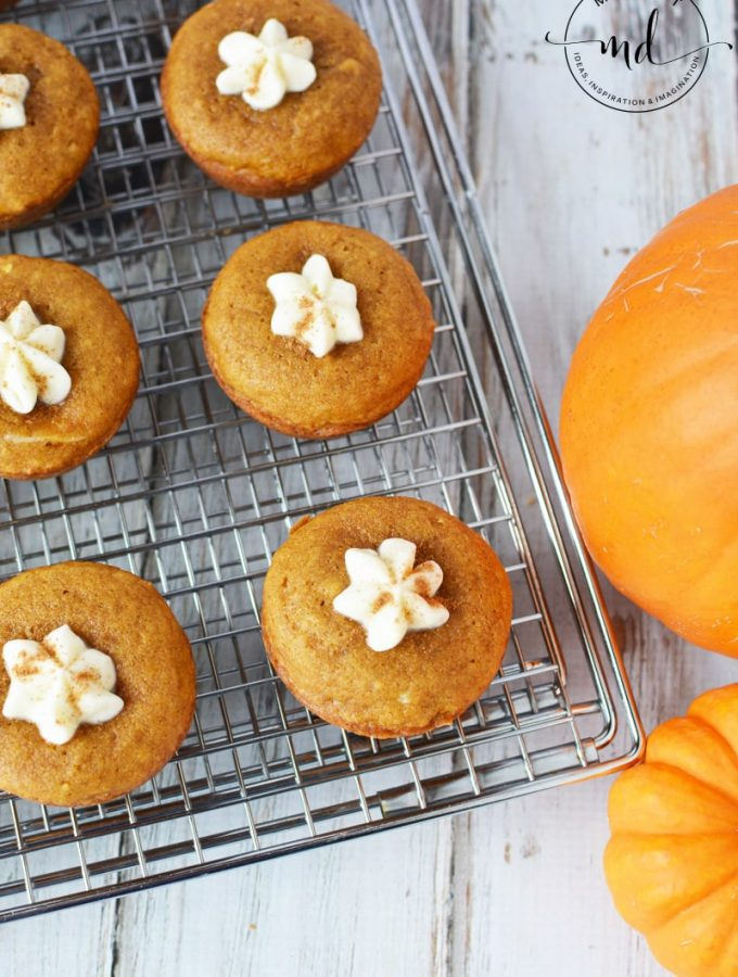 Pumpkin Cream Cheese Muffins with Cream Cheese Filling
