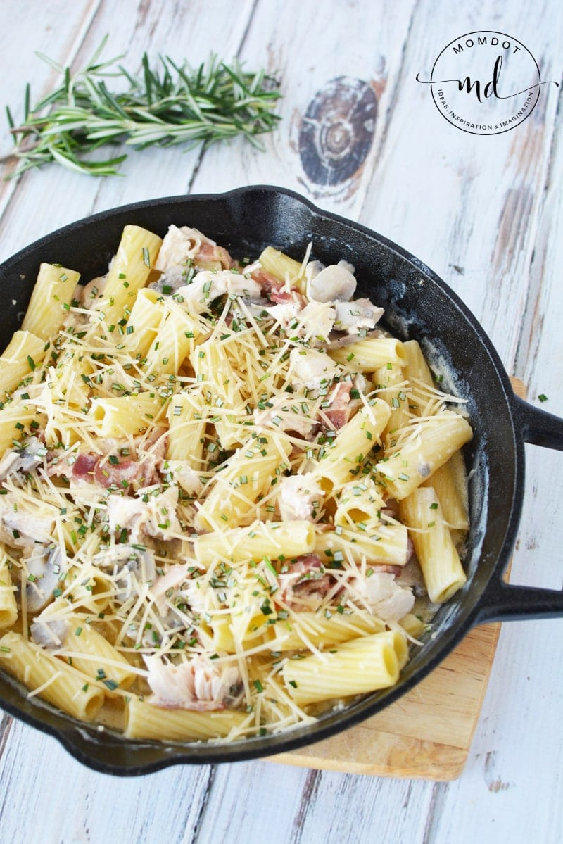 Leftover Turkey Pasta is a great Turkey Leftover Dish to use what you have from Thanksgiving. Do not let that delicious turkey go to waste and it wont with this amazing dinner recipe #thanksgiving #recipe #dinner #turkey