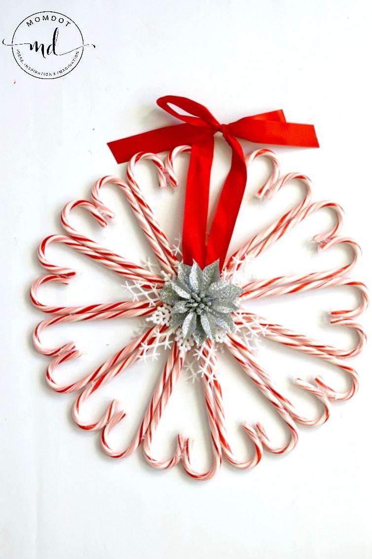 Candy Cane Wreath Christmas Wreath Diy