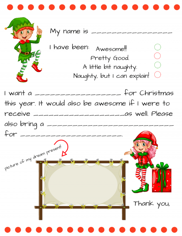 secret santa letter template dear santa fill in letter template 18429 | dear santa fill in letter 600x776