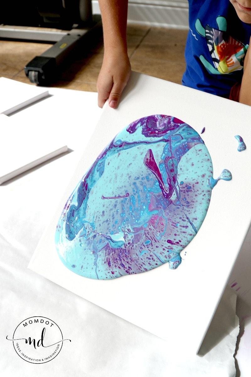 how to fluid paint | Fluid Painting Tutorial | Acrylic Fluid Painting DIY