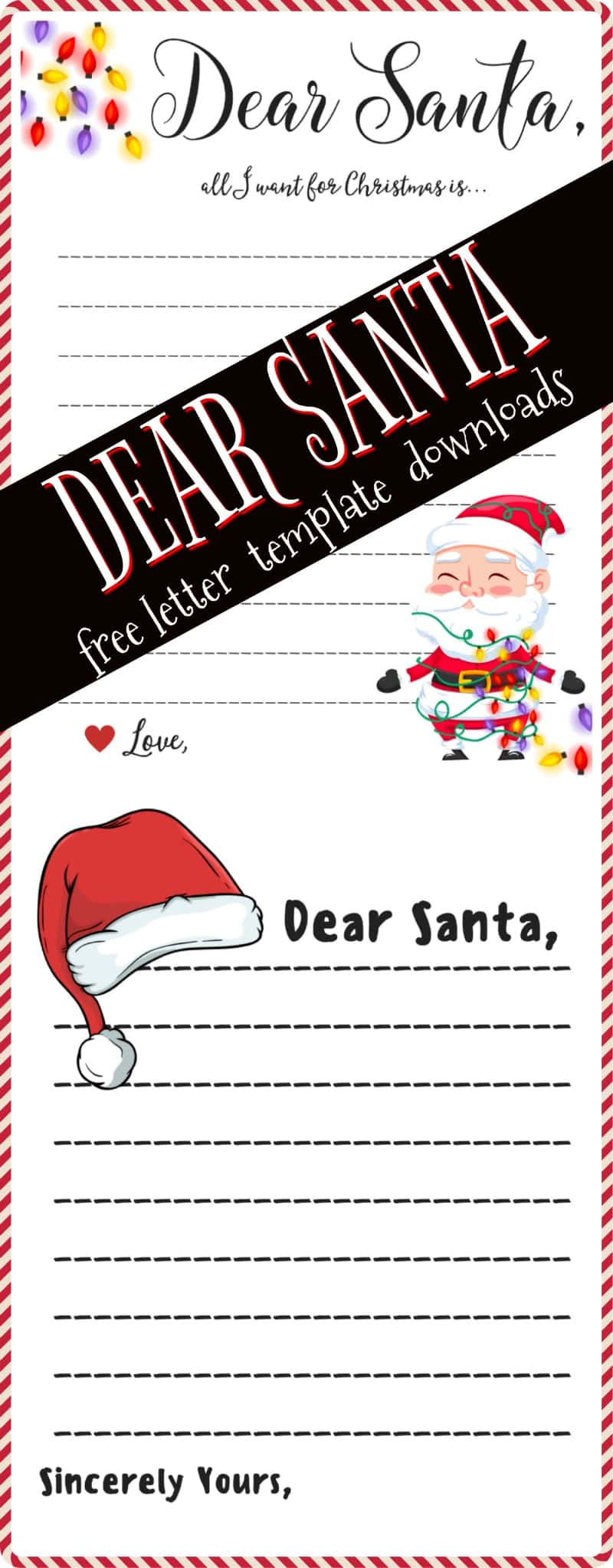 Dear Santa Letter Free Printable Downloads