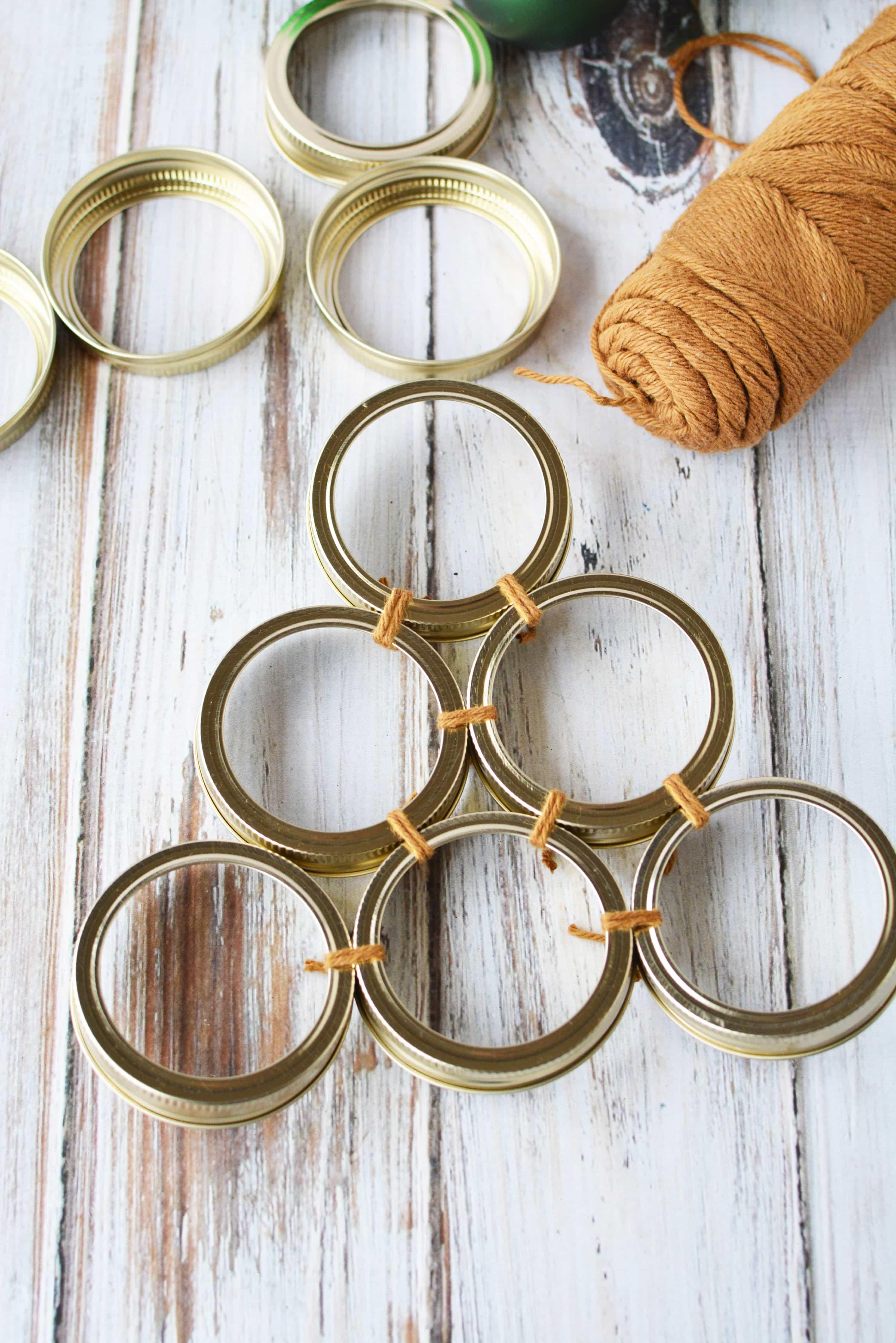 how to make a Mason Jar Lid Wreath | Christmas Wreath Tutorial using Mason Jar Lids | Holiday Mason Jar Crafts
