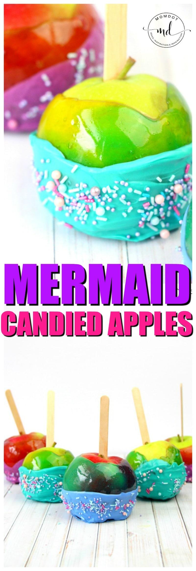 mermaid candied apples