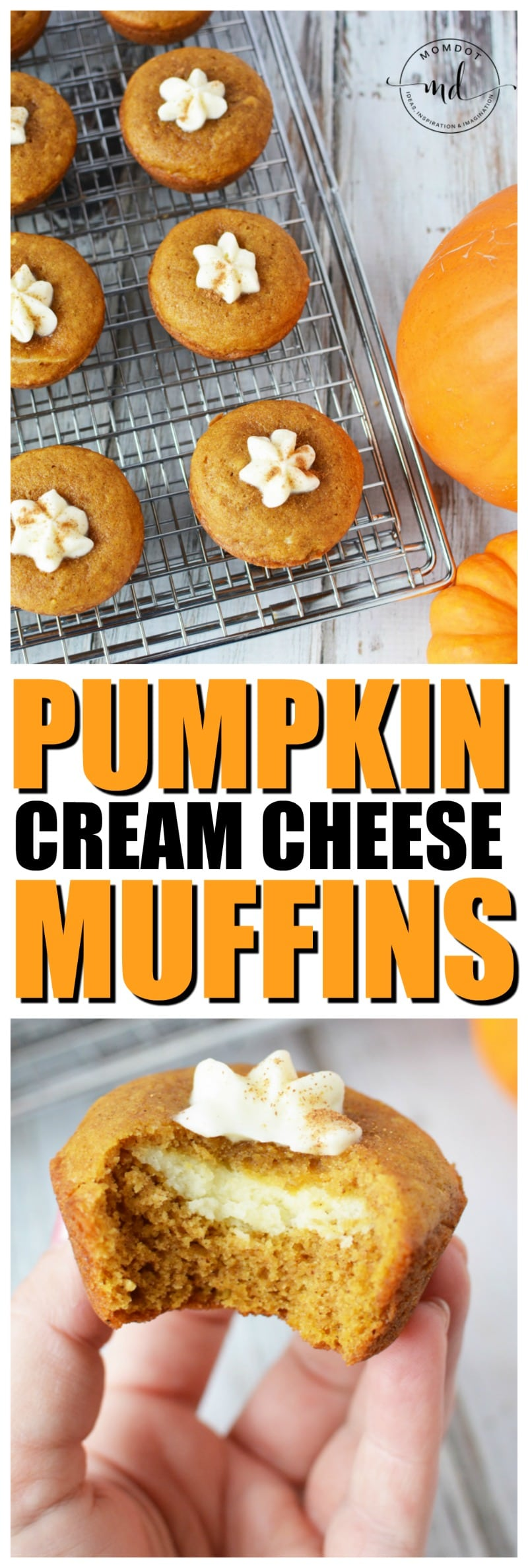 Pumpkin Cream Cheese Muffins | Delicious Holiday Dessert Recipe with Homemade Cream Cheese filling