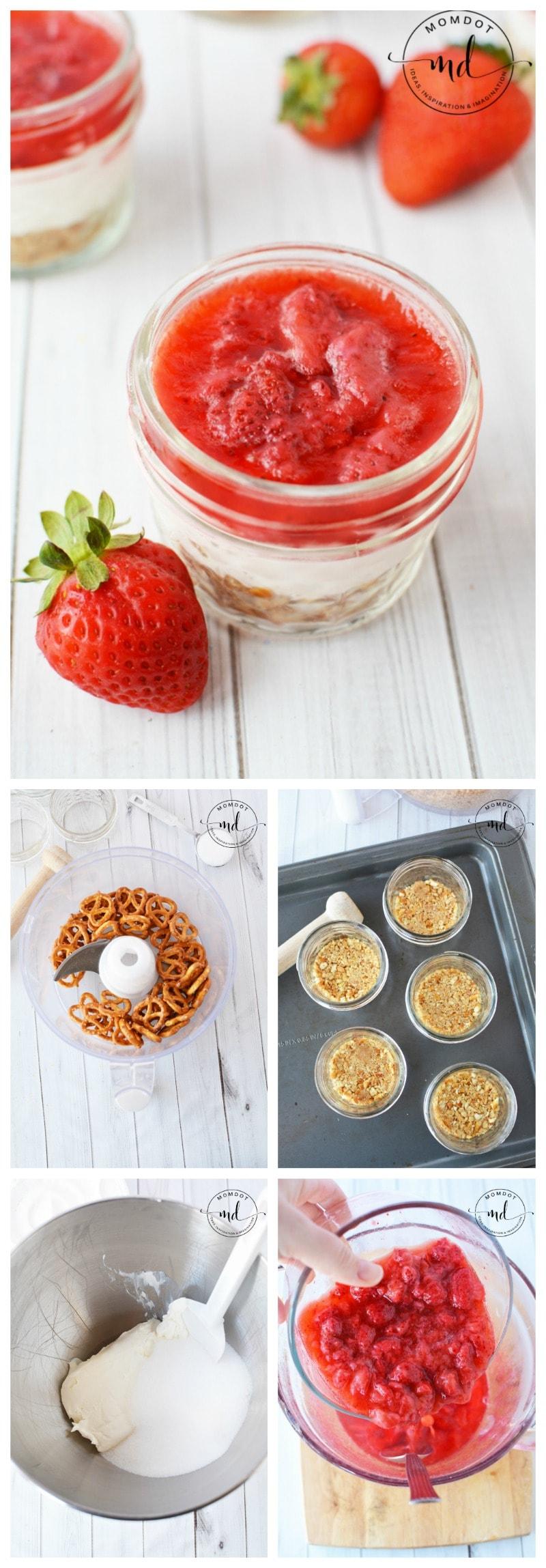 Strawberry Pretzel Dessert Jars | Easy Dessert perfect for holiday Season , Substitute for Cranberries!