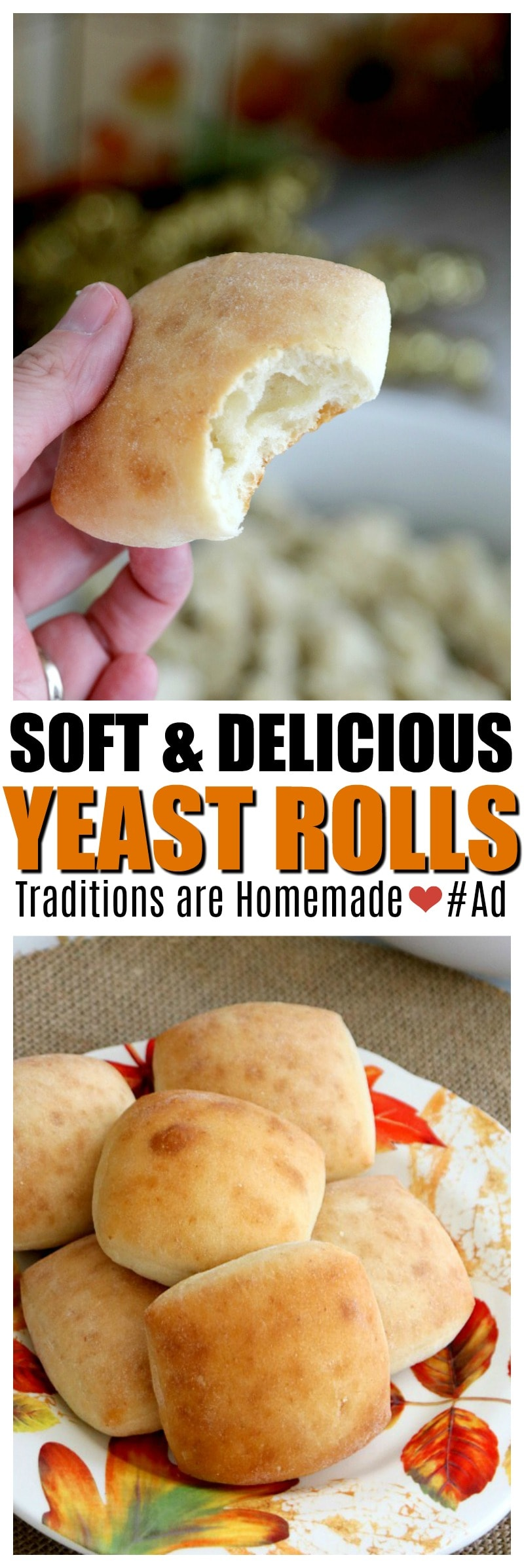 Soft and Delicious Yeast Rolls from ister Schubert's Dinner Yeast Rolls! You wont regret them, cutting corner is NOT cutting perfect flavor