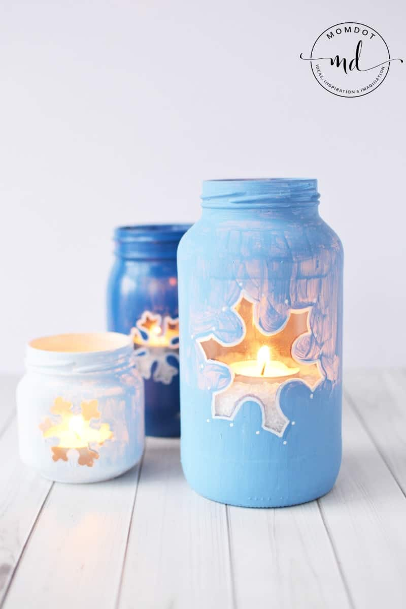 snowflake mason jar diy christmas mason jar tutorial how to paint mason jars for