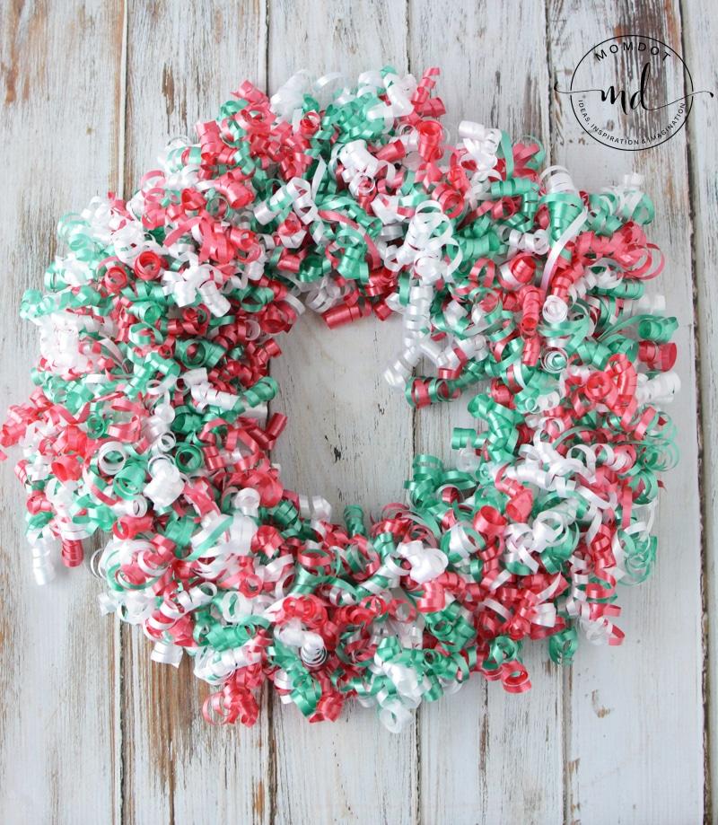 how to make a christmas ribbon wreath