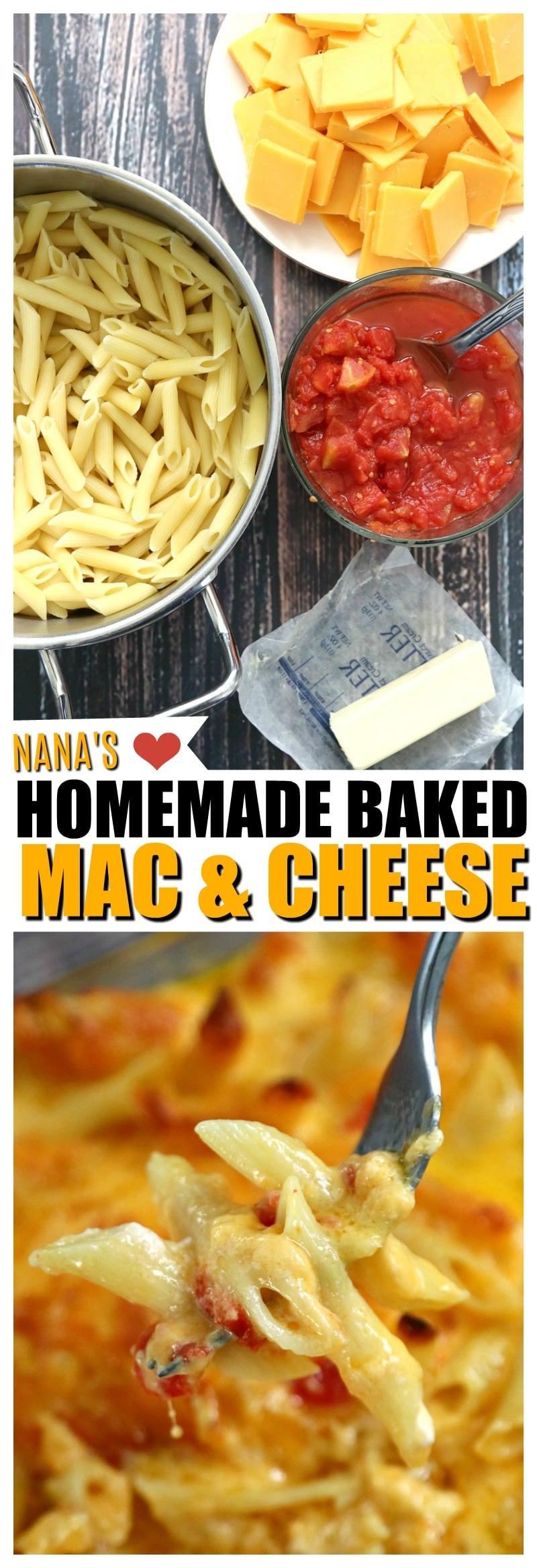 Nana's Homemade Baked Macaroni and Cheese recipe