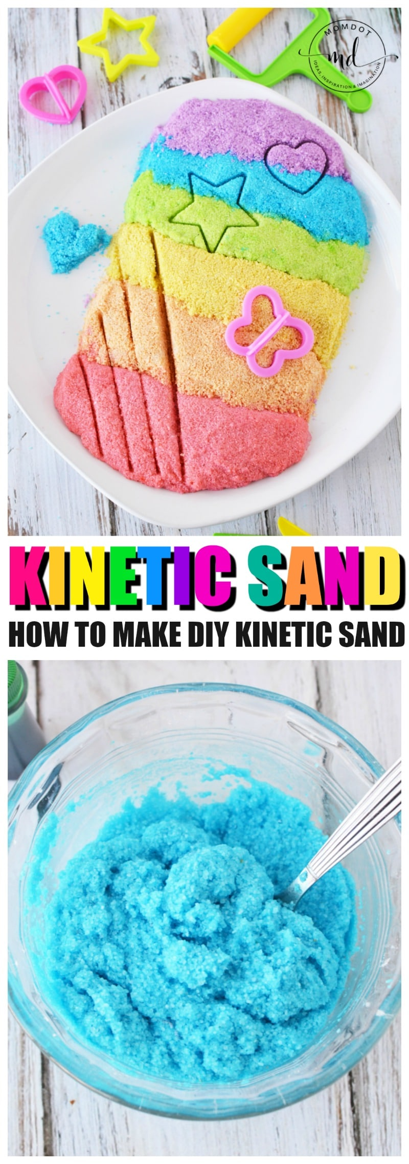 Kinetic Sand Recipe, how to make kinetic sand at home with this copycat DIY recipe