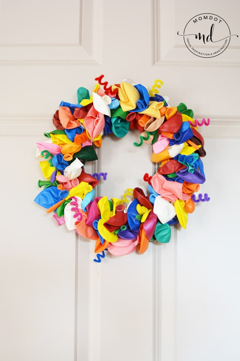 birthday wreath hanging