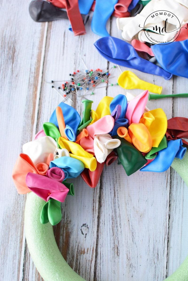 Birthday Balloon Wreath