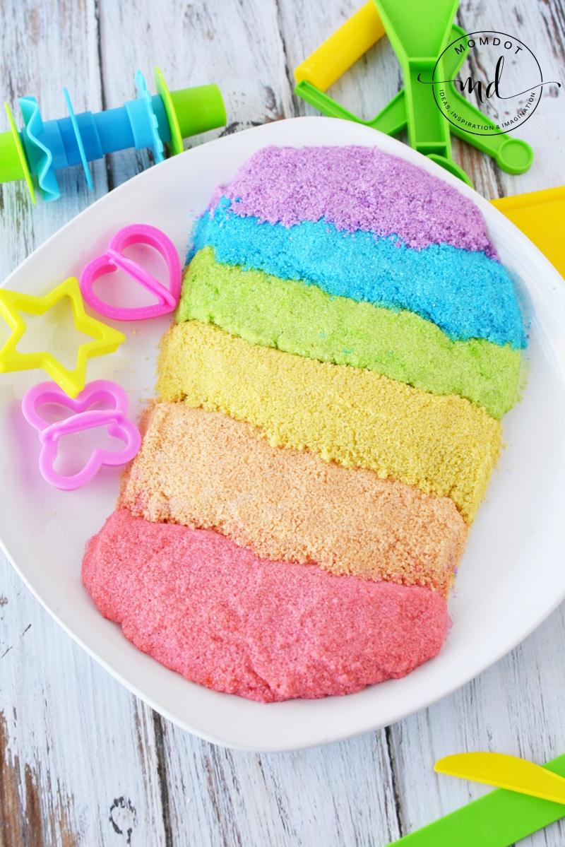 Kinetic sand recipe how to make kinetic sand rainbow sand nvjuhfo Choice Image
