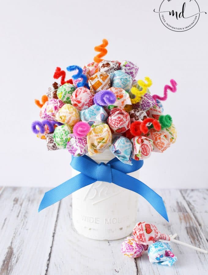 Candy Bouquet Lollipop Dum Sucker DIY Centerpiece