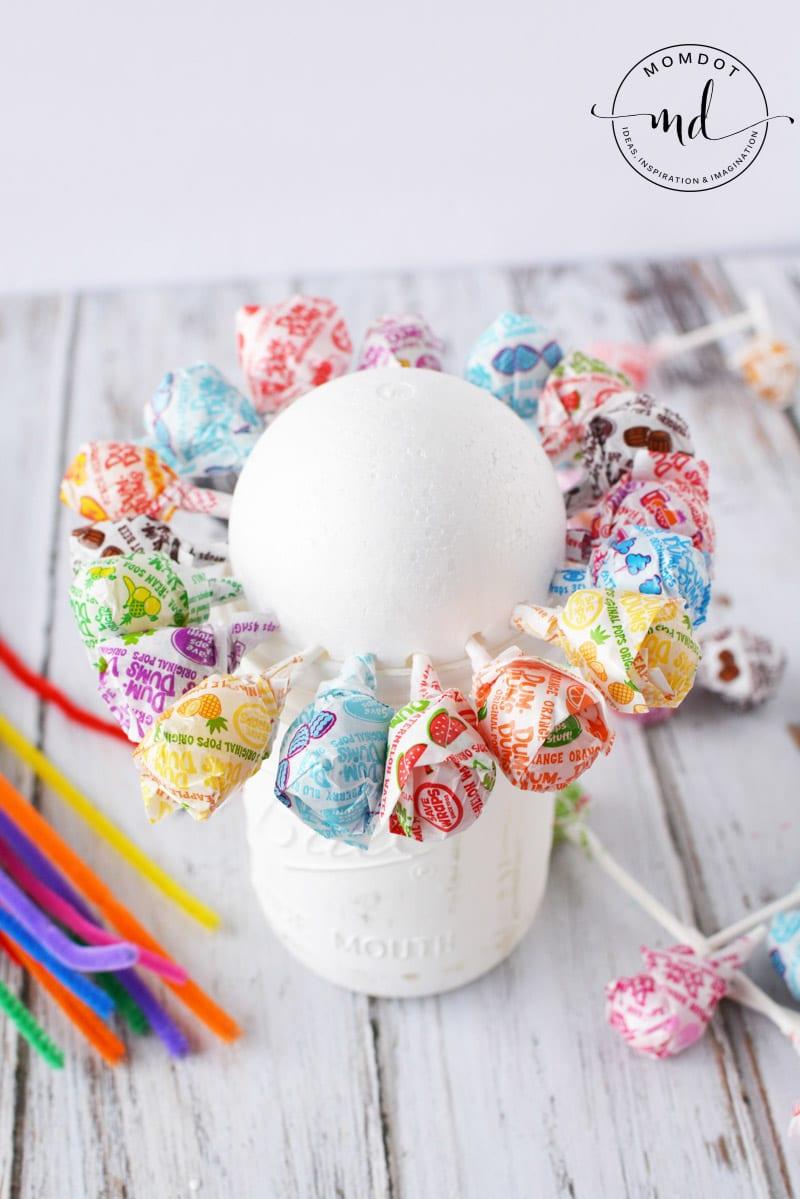 lollipop flower pot