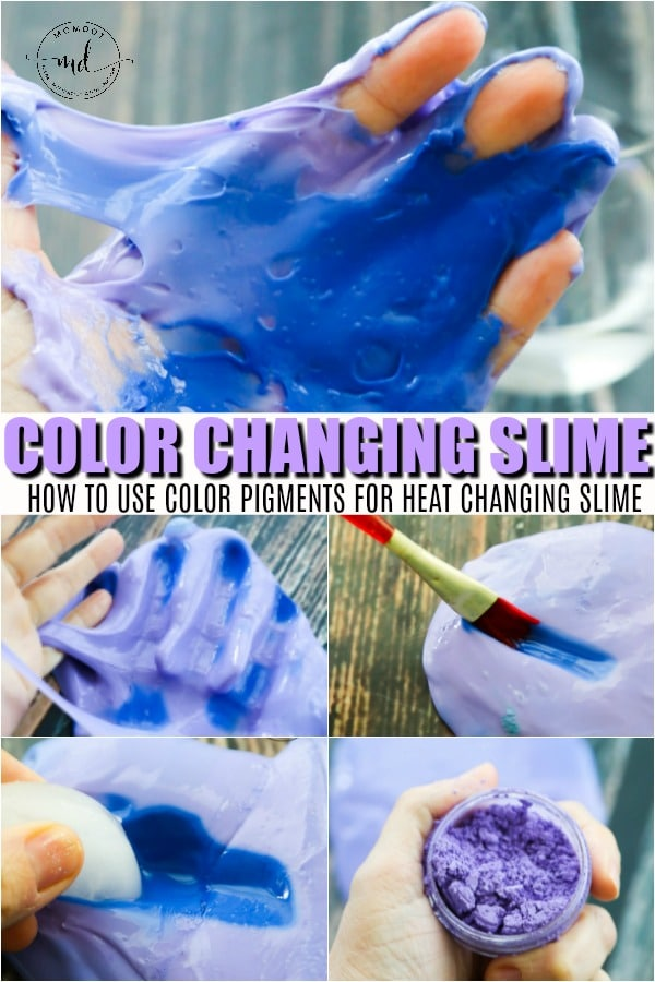 color changing heat slime
