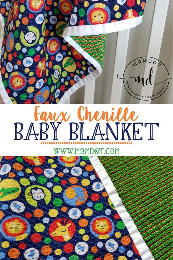 How to Sew a Faux Chenille Baby Blanket: A Step By Step Tutorial