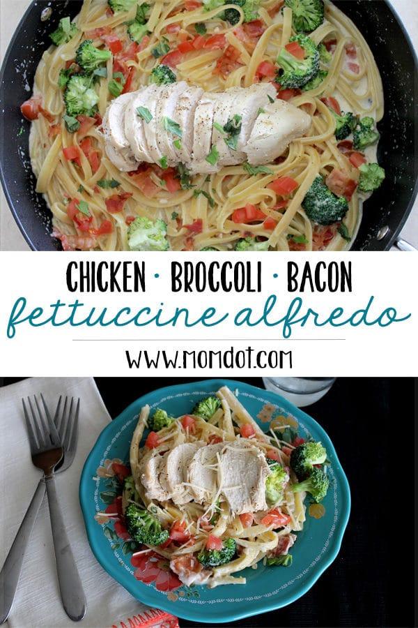 Chicken Broccoli Bacon Fettuccine Alfredo Recipe: A 30-Minute Meal