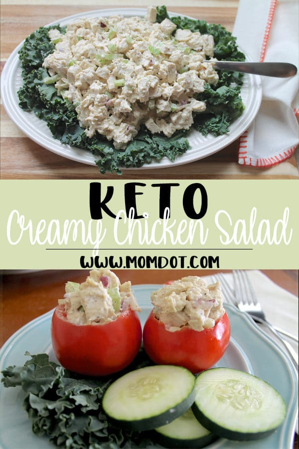Keto Chicken Salad Recipe with Instant Pot Cooked Chicken
