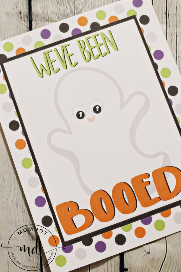 """""""You've Been Booed!"""" A Free Printable for Halloween"""